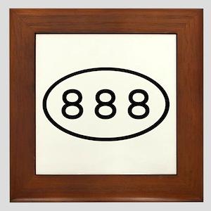888 Oval Framed Tile