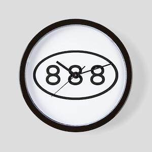 888 Oval Wall Clock