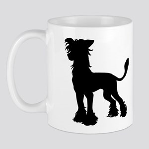 Chinese Crested Silhouette Mug