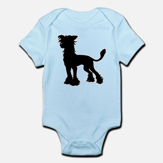 Chinese Crested Silhouette Infant Bodysuit