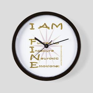 I am fine Wall Clock