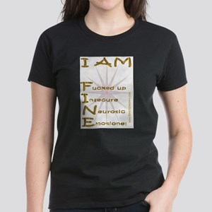 I am fine Women's Dark T-Shirt