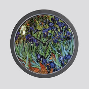 VAN GOGH IRISES Wall Clock