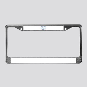 Many a True Word License Plate Frame