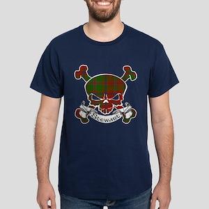 Stewart Tartan Skull Dark T-Shirt