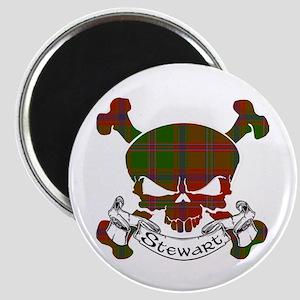 Stewart Tartan Skull Magnet