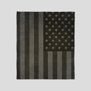 American Flag Midnight Throw Blanket