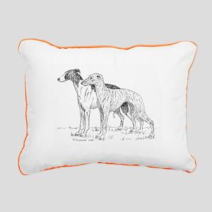 Whippet Rectangular Canvas Pillow