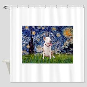 Starry - Bull Terrier (B) Shower Curtain