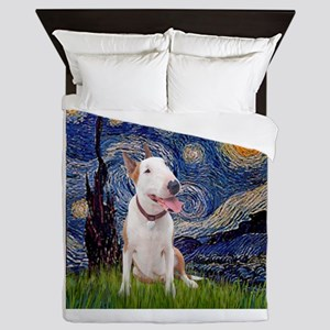 Starry - Bull Terrier (B) Queen Duvet
