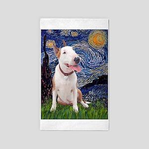 Starry - Bull Terrier (B) 3'x5' Area Rug