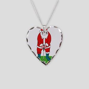 Santa plys golf Necklace