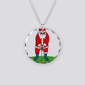 Santa plys golf Necklace