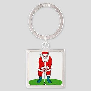 Santa plys golf Keychains