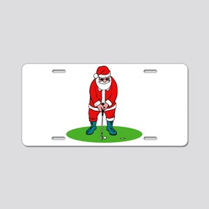 Santa plys golf Aluminum License Plate