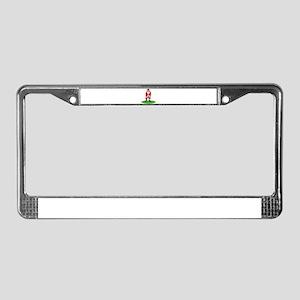 Santa plys golf License Plate Frame