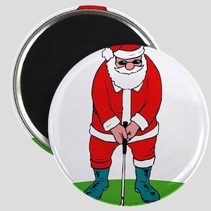 Santa plys golf Magnets