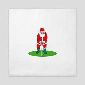 Santa plys golf Queen Duvet