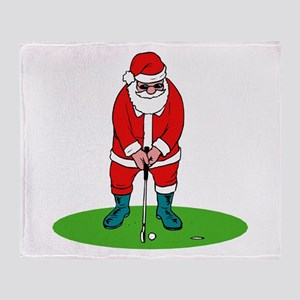 Santa plys golf Throw Blanket