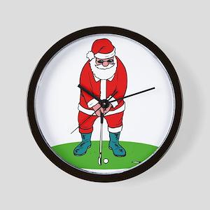 Santa plys golf Wall Clock