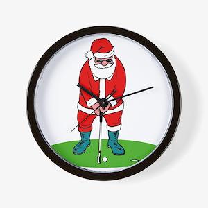 Santa plys golf.png Wall Clock