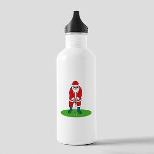Santa plys golf Water Bottle