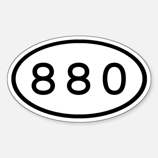 880 Oval Oval Decal