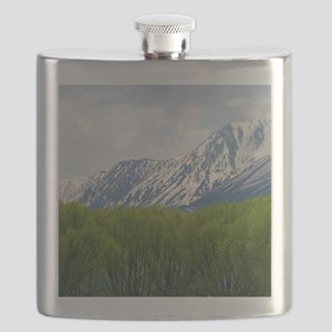 Spring snow capped mountains Flask