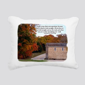 People Create Questions Rectangular Canvas Pillow