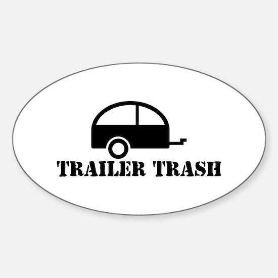 Trailer Trash Oval Decal