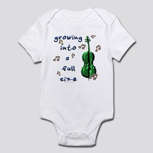 """Growing into a full size"" Infant Bodysuit"