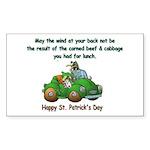 Irish Powered Rectangle Sticker