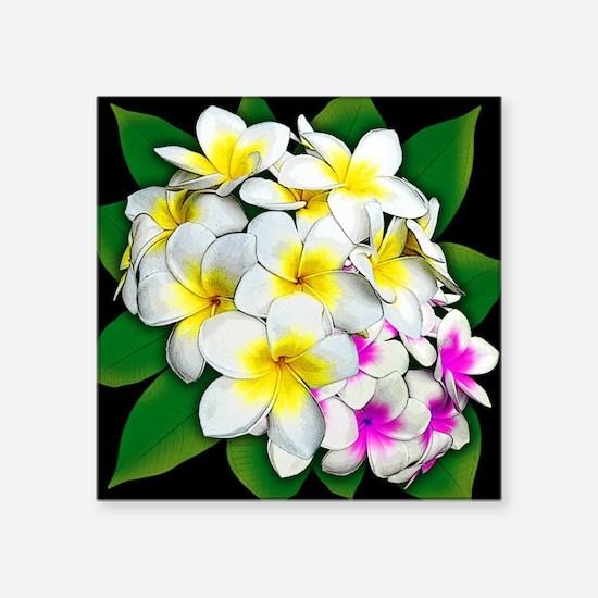 Plumeria Flowers Bouquet Sticker