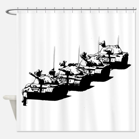 Tienanmen Tank Man Shower Curtain