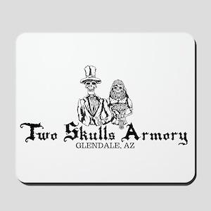 Two Skulls Logo Mousepad