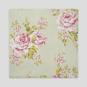 elegant colorful roses vintage floral Queen Duvet
