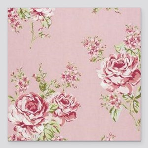 "elegant colorful roses v Square Car Magnet 3"" x 3"""