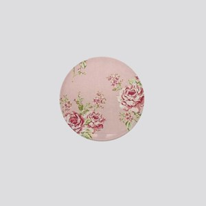 elegant colorful roses vintage floral Mini Button