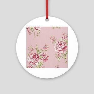 elegant colorful roses vintage flor Round Ornament