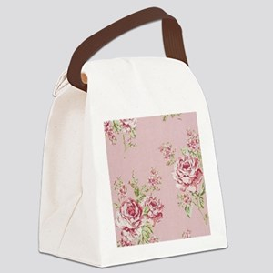 elegant colorful roses vintage fl Canvas Lunch Bag