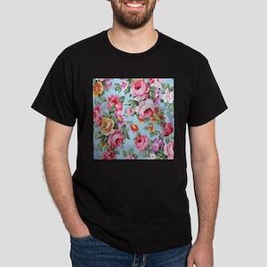 elegant colorful pink roses vintage floral T-Shirt