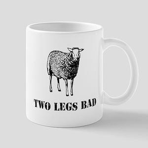 Two Legs Bad Sheep Mugs
