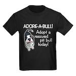 Adore-A-Bull Pit Bull! Kids Dark T-Shirt