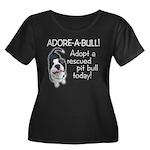 Adore-A-Bull Pit Bull! Women's Plus Size Scoop Nec