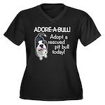 Adore-A-Bull Pit Bull! Women's Plus Size V-Neck Da