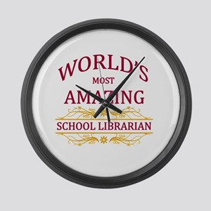School Librarian Large Wall Clock