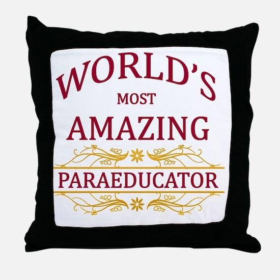 Paraeducator Throw Pillow