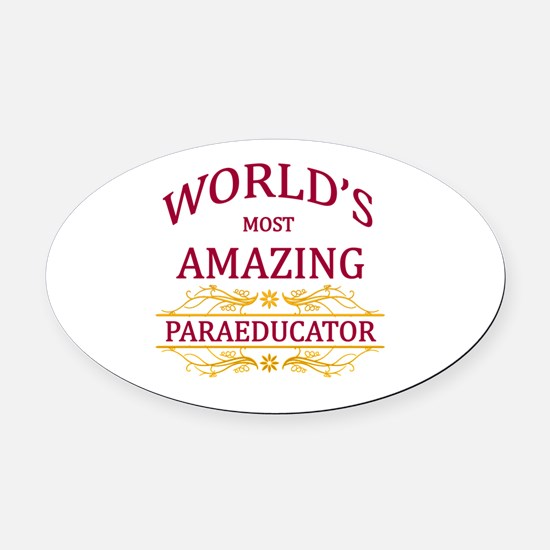 Paraeducator Oval Car Magnet