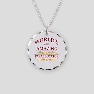 Paraeducator Necklace Circle Charm