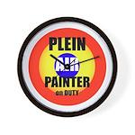 Plein Air Painter Wall Clock